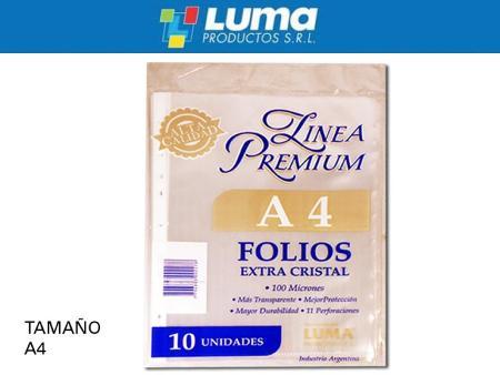 FOLIO LUMA A4 X10 PREMIUM (x U.)