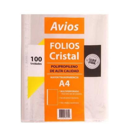 FOLIO AVIOS A4 X100 COMERCIAL (x U.)