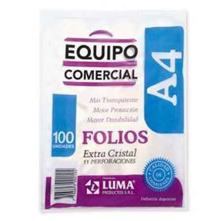 FOLIO LUMA A4 X100 COMERCIAL (x U.)