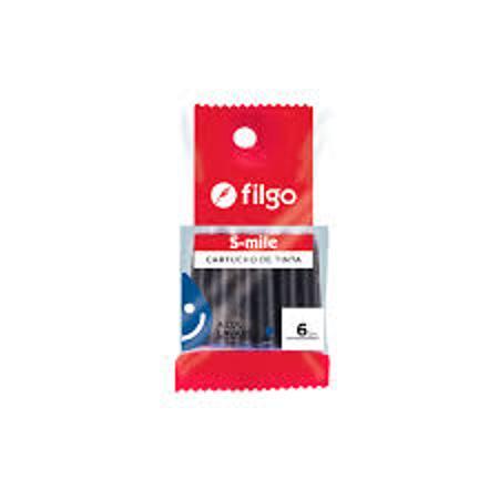CARTUCHO LAPICERA FILGO X6 (x U.)