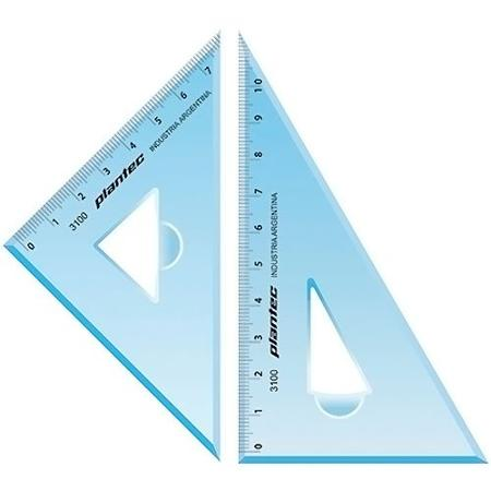 SET ESCUADRA PLANTEC 45º Y 60º 12CM (x U.)