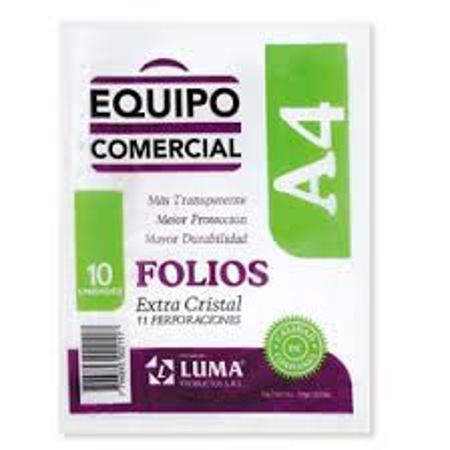 FOLIO LUMA A4 X10 COMERCIAL (x U.)