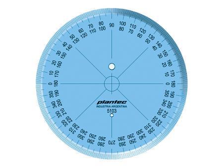 TRANSPORTADOR 360º PLANTEC 120MM (x U.)