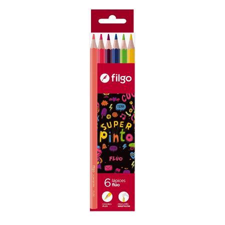LAPIZ COLOR FILGO X6 FLUO (x U.)