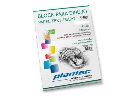 BLOCK DIBUJO PLANTEC ENCOLADO A5 40H 210GR TEXTURADO (x U.)