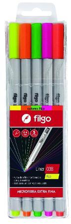 MICROFIBRA FILGO 038 LINER X5 FLUO (x U.)