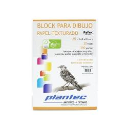 BLOCK DIBUJO PLANTEC ENCOLADO A5 20H 350GR TEXTURADO (x U.)