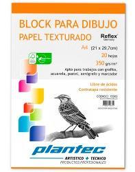 BLOCK DIBUJO PLANTEC ENCOLADO A4 20H 350GR TEXTURADO (x U.)