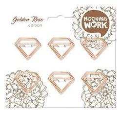CLIPS MOOVING DIAMOND GOLDEN ROSE X6 (x U.)
