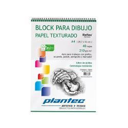 BLOCK DIBUJO PLANTEC ESPIRAL A4 40H 210GR TEXTURADO (x U.)