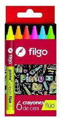 LAPIZ CERA FILGO FLUO X6 (x U.)